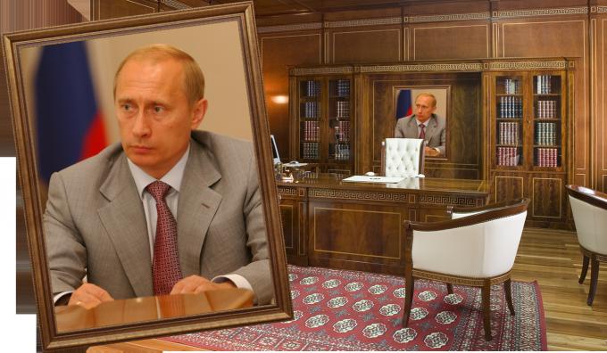 Портрет Президента в кабинете нужно размещать согласно правилам фен-шуй