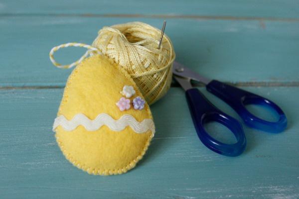 Как сделать простые пасхальные сувениры из фетра