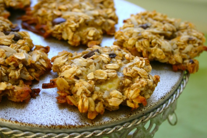 Cookies made from oatmeal and banana: recipe