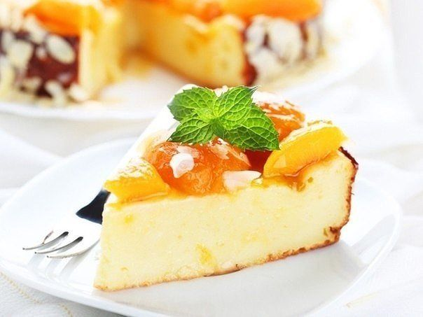 Low calorie cottage cheese pie