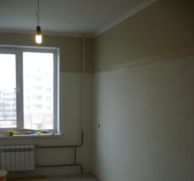 Walls prepared