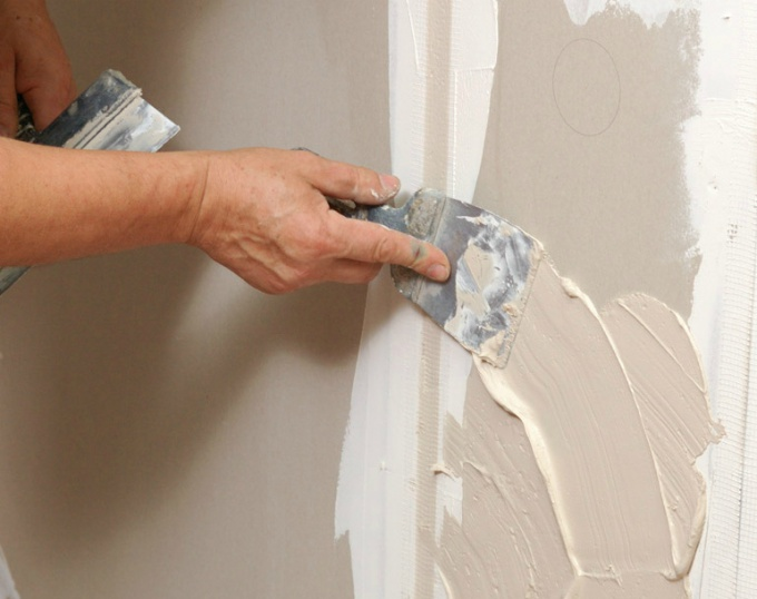 Walls leveling putty