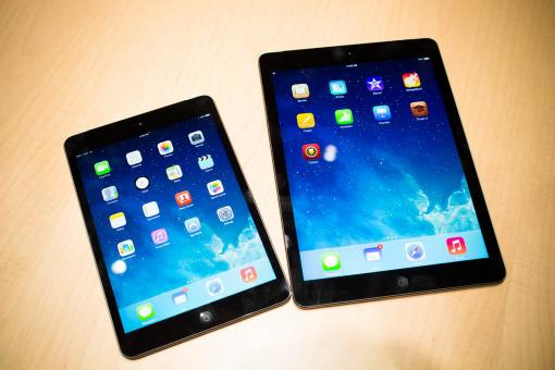 Comparison iPad Air and iPad Mini