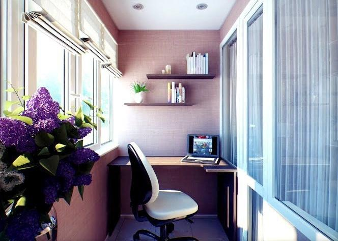 С чего начать организацию кабинета на балконе или лоджии?