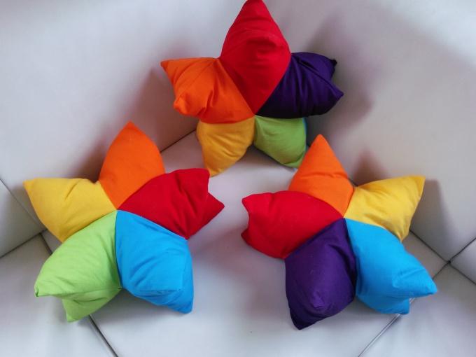 Звездочка подушка своими руками 25