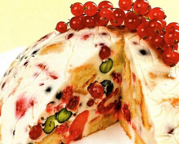 The fruit cake without baking