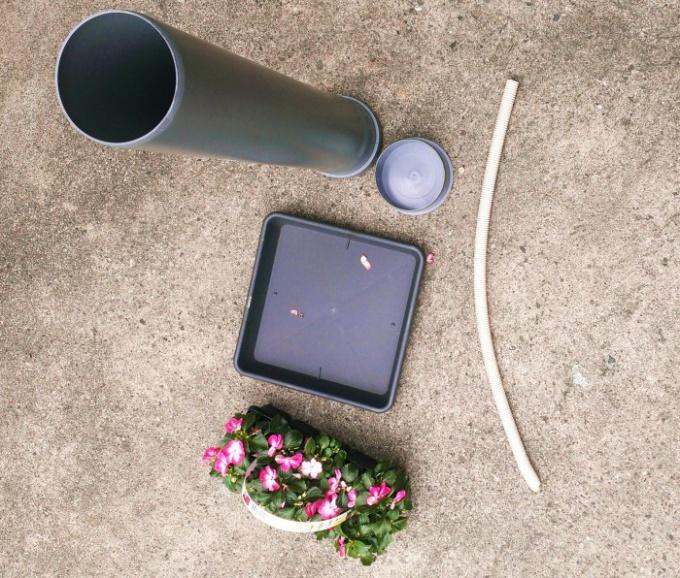 Как сделать кашпо из пластиковой трубы
