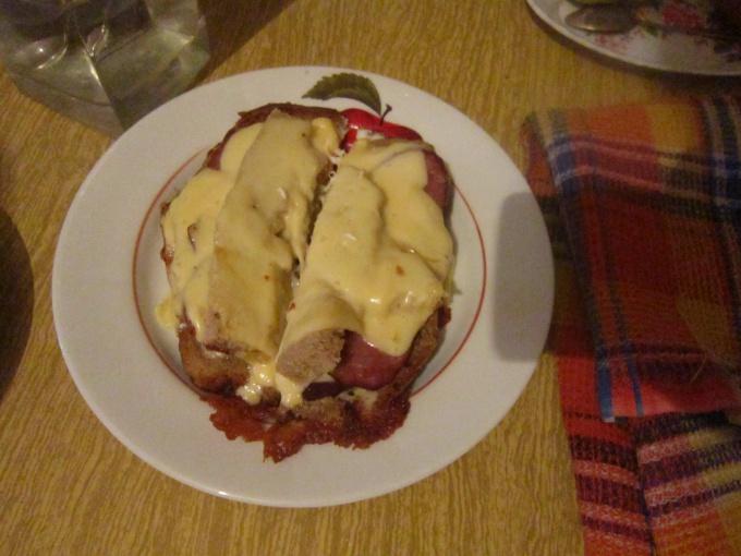 разрезанный бутерброд