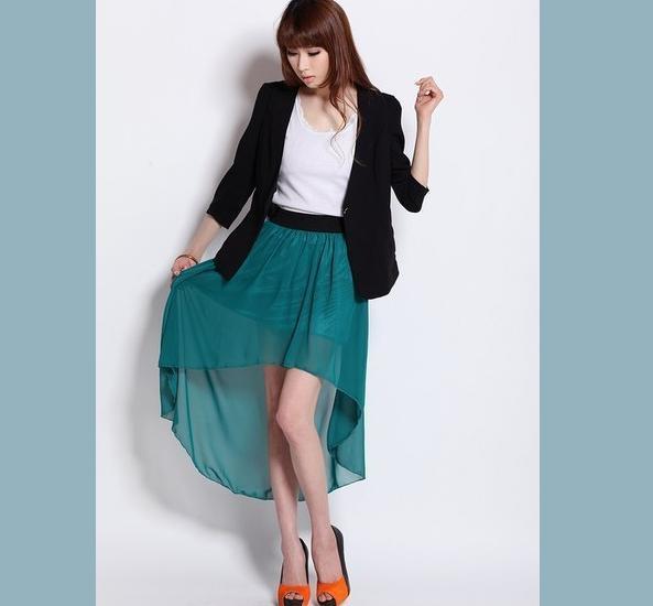 как сшить юбку мини-макси (со шлейфом)