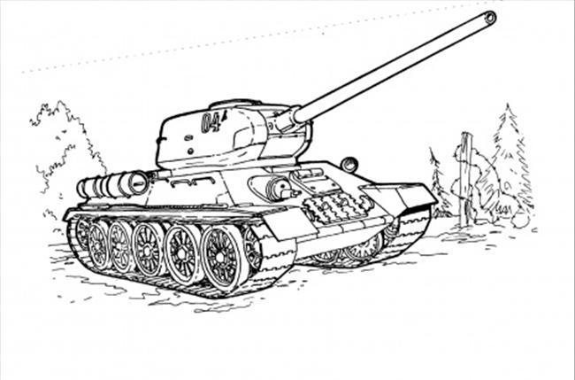 Как поэтапно нарисовать танк