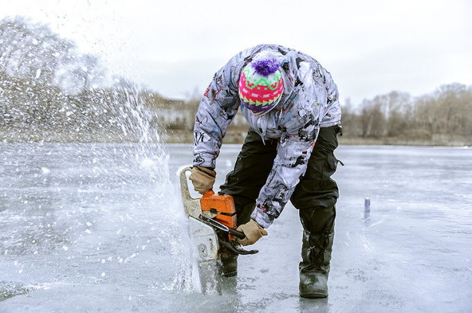 Наполнитель для ледника - пиленый речной лед