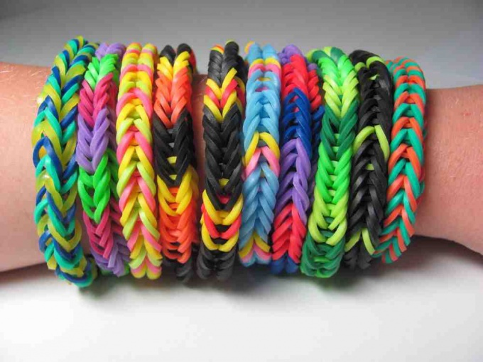 Learn how to make bracelets out of rubber bands