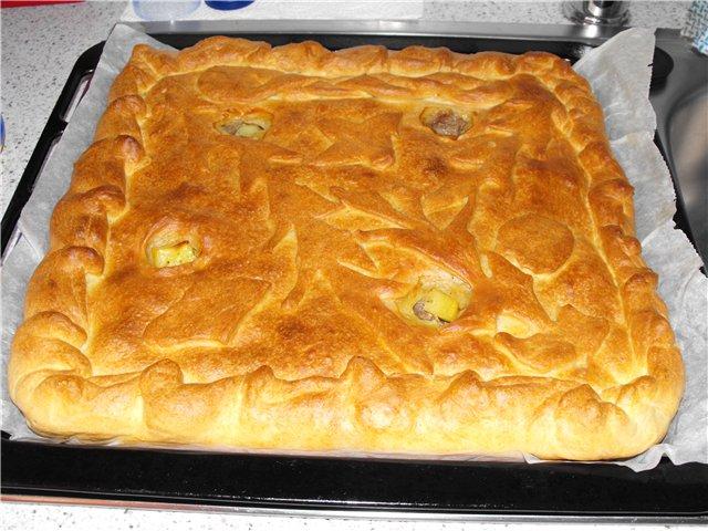 Как приготовить быстрый пирог с мясом и картофелем