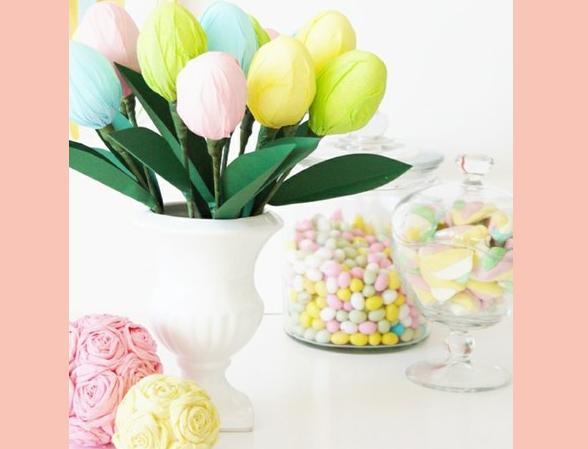 Тюльпаны из киндер-сюрпризов своими руками