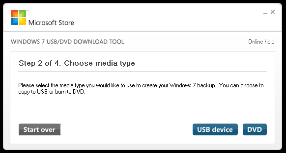 Выбор носителя для записи установочного образа Windows.
