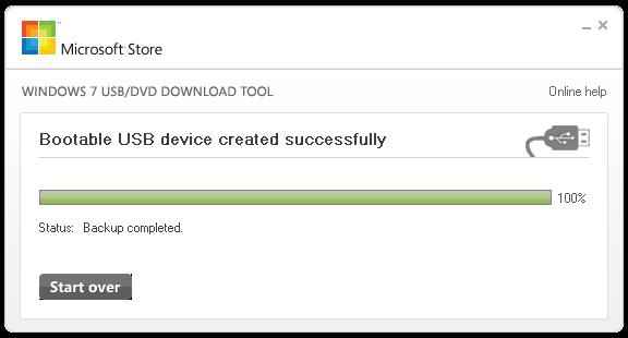 Запись образа USB флэшки завершена.