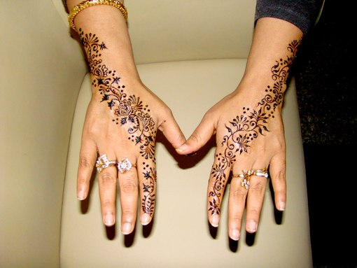 How to make mehendi (patterns on hands at home