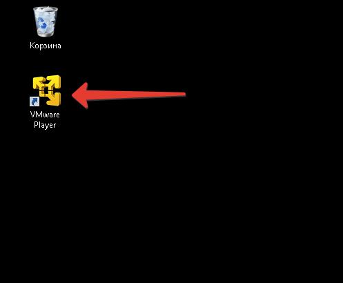 Ярлык VMWare Player.