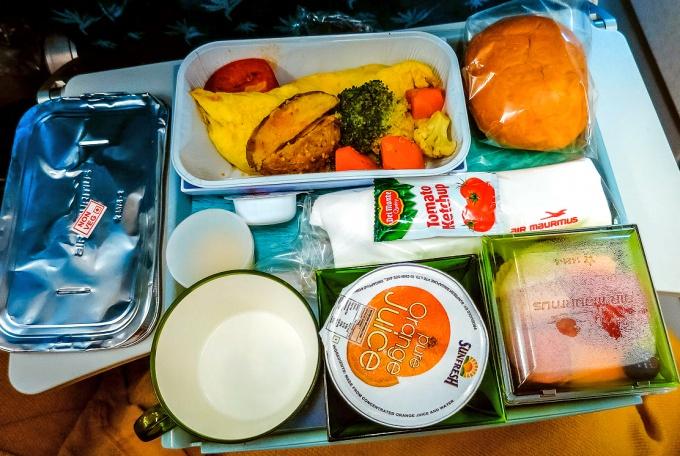 Вегетарианская еда в самолете