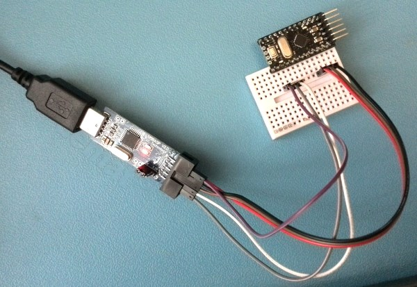 Соединение программатора с Arduino Pro Mini