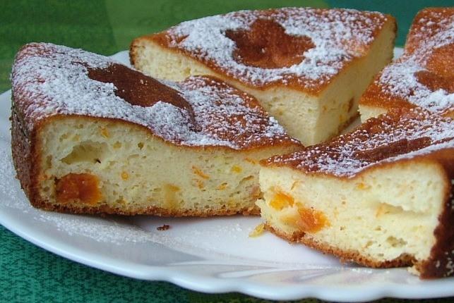 Как приготовить апельсиновый творожный бисквит