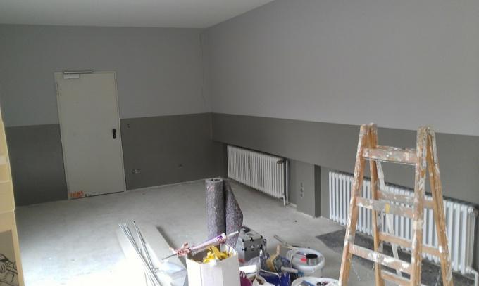 Известковый раствор для побелки потолка или стен