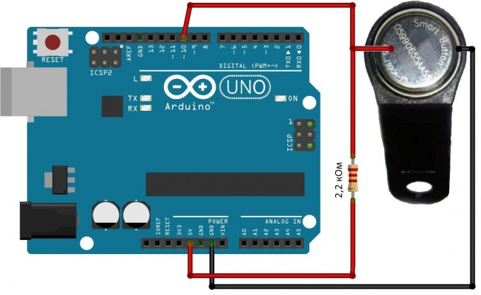 Connect the key for the intercom to Arduino
