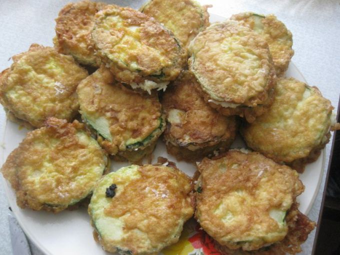 How to cook zucchini in batter
