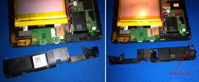 Снимаем вибромотор планшета Huawei MediaPad S7