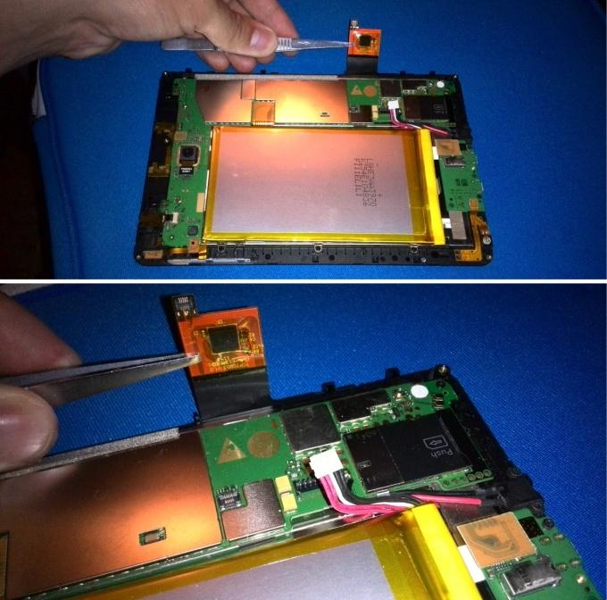 Отключаем сенсорное стекло тачскрин планшета Huawei MediaPad S7