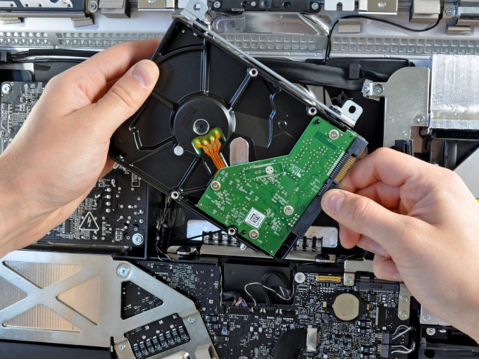 Жесткий диск на ноутбуке