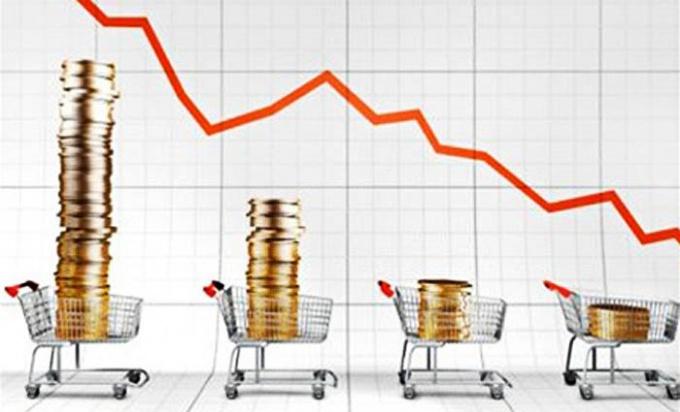 Уменьшение доходов компании в кризис.