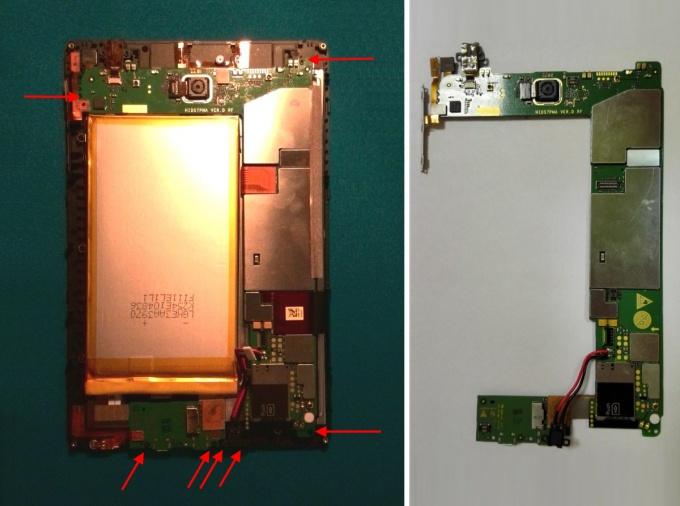 Снимаем материнскую плату планшета Huawei MediaPad S7