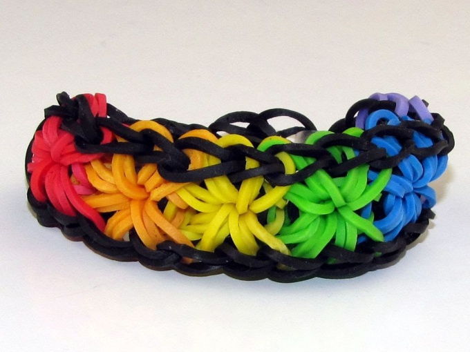 Why threat the rubber bands to weave bracelets