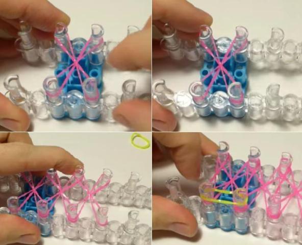 Схема плетения чехла из резинок