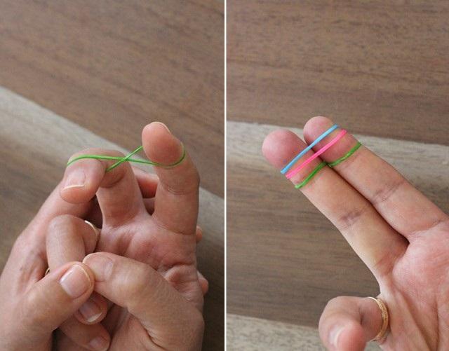 как плети браслеты из резинок 1