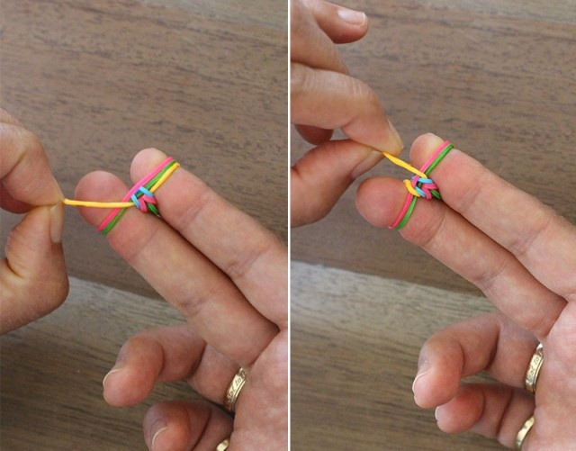 как плети браслеты из резинок 5