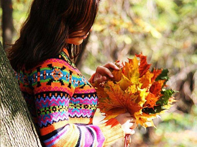 В листьях есть особая магия притяжения - только вглядитесь.
