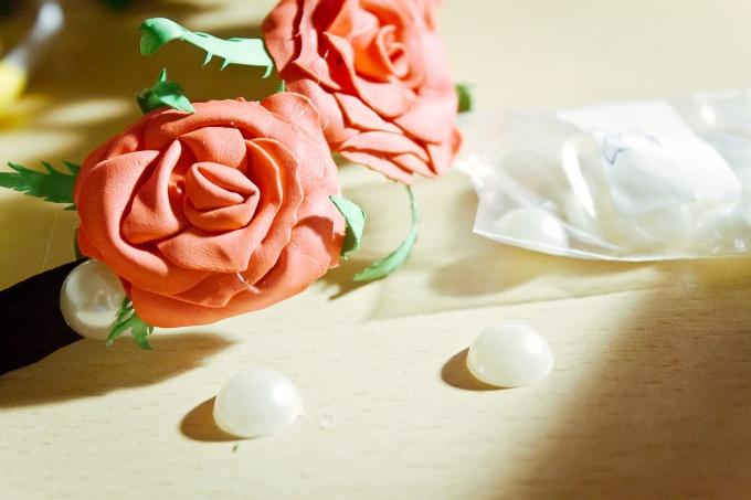 Розы из фоамирана: мастер-класс