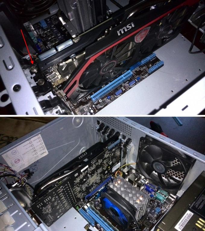 Видеокарта в разъёме PCI-Express