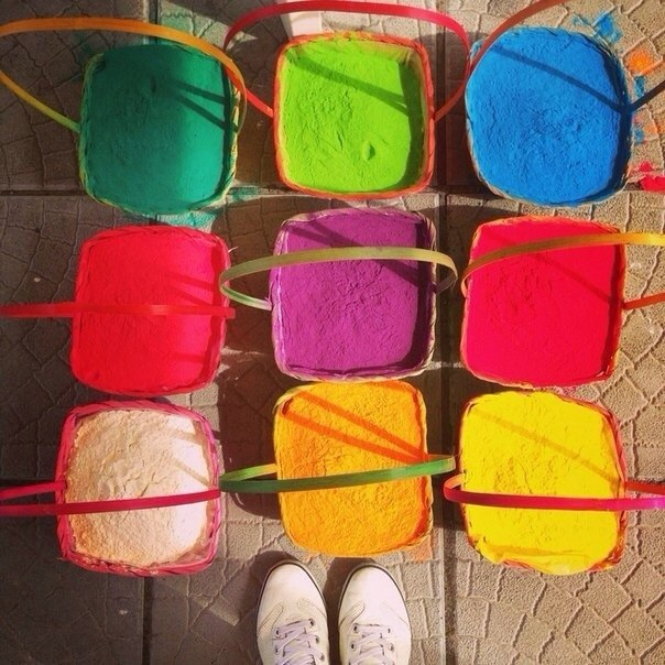 Краски холи своими руками