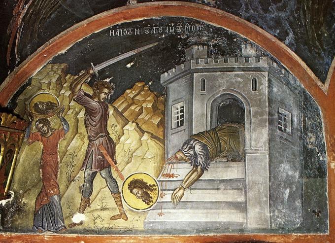Усекновение главы Иоанна Предтечи: евангельское повествование