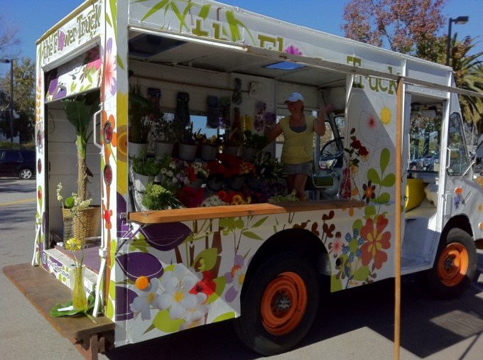Business idea: a flower shop on wheels