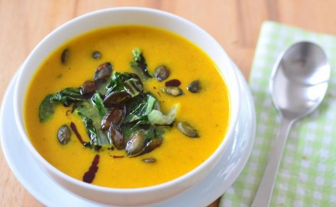 Как приготовить суп из тыквы с пекинской капустой