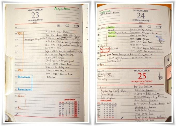 Как правильно вести записи в ежедневнике