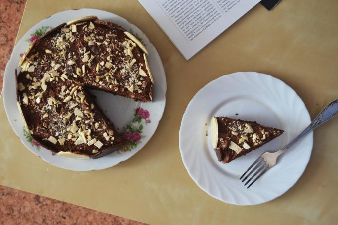 Как приготовить двойной шоколадно-кофейный торт