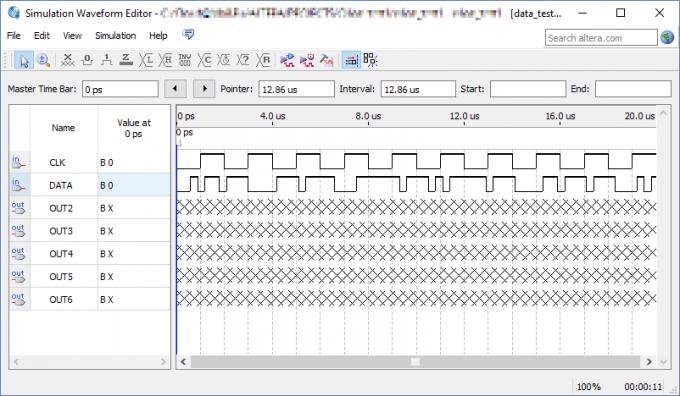 Программа Simulation Waveform Editor