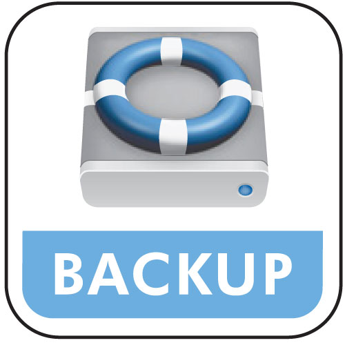 Organization of the backups of the website