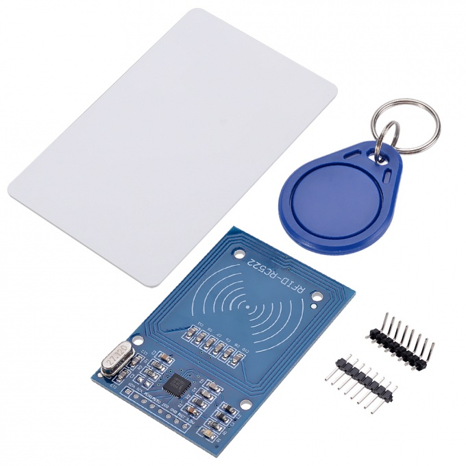 RC522 RFID reader with a map and thumb