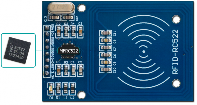The wireless module RFID RC522